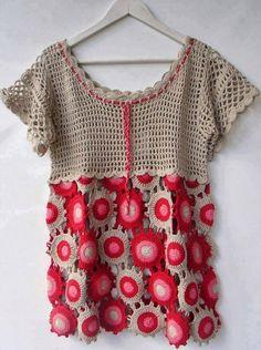 Sidney Artesanato: Uma linda blusa...