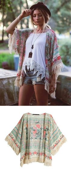 A Boho Fringe Cardigan is now available at $32.90 from Pasaboho. This Cardigan exhibit brilliant colours with unique floral patterns. ❤️ :: boho fashion :: gypsy style :: hippie chic :: boho chic :: outfit ideas :: boho clothing :: free spirit :: fashion trend :: embroidered :: flowers :: floral :: lace :: fabulous :: love :: street style :: fashion style :: boho style :: bohemian :: modern vintage :: ethnic tribal :: boho bags :: embroidery jacket :: cardigans :: sweater :: tops
