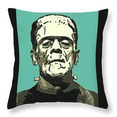 Frankenstein's Monster Comic Filter Pillow, by Joy McKenzie, on zazzle.com #Frankenstein #horror #Karloff