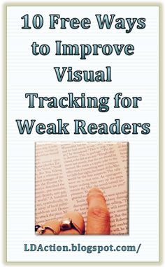 Come learn about 10 free ways to improve visual tracking for struggling readers or students with dyslexia.