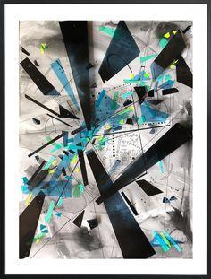 Tanya Sternberg: Attraction II: fine art | StateoftheART South African Artists, Office Art, Modern Contemporary, Framed Art, Attraction, Original Artwork, Oriental, Mixed Media, Ink