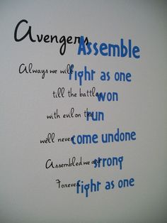 E's wall... The Avengers theme song. stacilee84