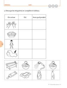 Kindergarten Math Activities, Kindergarten Worksheets, Worksheets For Kids, Activities For Kids, Health Activities, Chinese Words, Middle School Science, Hygiene, Dental Health