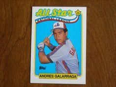 Andres Galarraga All Star National League Montreal Expos - 1989 Topps Baseball Card Baseball Cards For Sale, National League, Montreal, All Star, Stars, Sterne, Converse