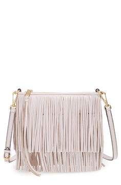 Adding this flirty fringe Rebecca Minkoff clutch from @nordstrom to the collection. love the versatility of the neutral color #nordstrom