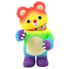 Muckey : Crayon Rainbow GID - The colorway of the popular Muckey series by Instinctoy features a rainbow gradient Glow-In-The_Dark body. Lift up his head to reveal a rainbow color scheme over his viciously cute teeth. Vinyl Toys, Vinyl Art, Toys Land, Monster Toys, Color Crayons, Japanese Toys, Found Object Art, Lowbrow Art, Toy Collector