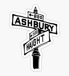 Haight x Ashbury Street Sign Sticker