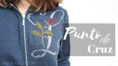 Punto de cruz en una sudadera (fácil) Nike Jacket, Graphic Sweatshirt, Athletic, Denim, Sweatshirts, Sweaters, Jackets, Fashion, Sweatshirt