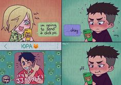 Sexting: the right way ✨ Based on this - Full OtaYuri Mode
