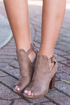 Whenever you get to wear these chic booties will be your own personal height of happiness! They are just so cute and trendy! Plus, being that fab taupe color they will go with everything!!!