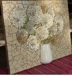 Nikki Murray-Mason, a mosaic artist, specialising in flower mosaics, based in Bermuda.