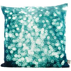 House Doctor Rain Drops Pillowcase - 50x50cm ($43) ❤ liked on Polyvore featuring home, bed & bath, bedding, bed sheets, blue, blue bedding, blue pillow cases and house doctor