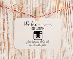 Instagram Wedding Stamp We Love Instagram Hashtag Stamp by HelloWorldStamps on Etsy https://www.etsy.com/listing/192642988/instagram-wedding-stamp-we-love