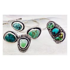 Created this series of free spirited turquoise jewels and they all look so sweet together!