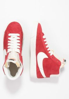 nike sportswear blazer mid vintage - sneaker high - university red/sail