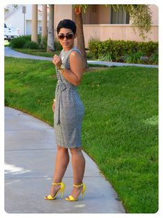 mimi g.: DIY Chevron Print Dress + Pattern Review of V8898 View B