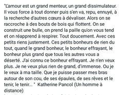 Katherine Pancol, Un homme a distance.