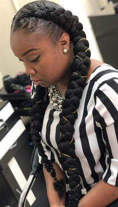 Two Big Braids With Weave Collection 34 two braids styles with weave 2019 for african women to Two Big Braids With Weave. Here is Two Big Braids With Weave Collection for you. Two Big Braids With Weave two braid hairstyles with weave 94225 5 uni. Braid Styles With Weave, Two Braids Style, Two Braids With Weave, Weave Braid, Butterfly Hairstyle, Butterfly Braid, Hairstyle App, Two Braid Hairstyles, Black Hairstyles