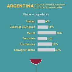 Vinos del mundo: Argentina #wine #wines #winelover #winelovers #winetour #winetasting #sommelier #tasting #wineyard #chileanwine #vino #vinos #enologia #winelife #infographic