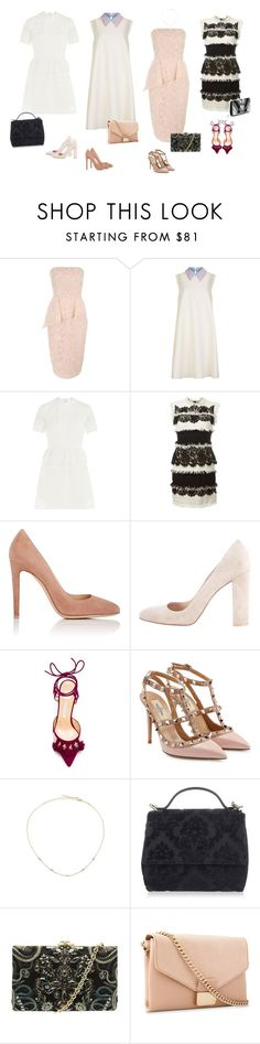 """Outfit"" by audrey-balt on Polyvore featuring Jane Norman, Roksanda, self-portrait, Lanvin, Gianvito Rossi, Bionda Castana, Valentino, Jacquie Aiche, Givenchy and Ted Baker"