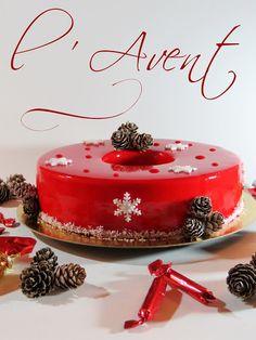 L'Avent (Croustillant Coco, Crémeux Passion, Compotée Fruits Rouges, Mousse Fruits Rouges)