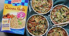 Recette - Mini gratin de quinoa, courgette, lardons, crème fraîche et comté en vidéo