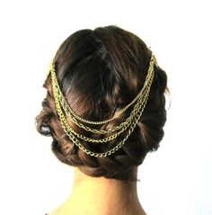 Golden Wings Hair Jewelry by LOLAjewelryd on Etsy,
