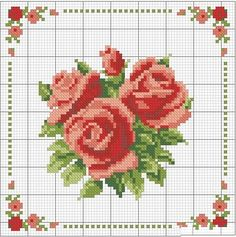 This Pin was discovered by Sii Butterfly Cross Stitch, Cross Stitch Borders, Cross Stitch Rose, Cross Stitch Flowers, Cross Stitch Charts, Cross Stitch Designs, Cross Stitching, Cross Stitch Embroidery, Cross Stitch Patterns