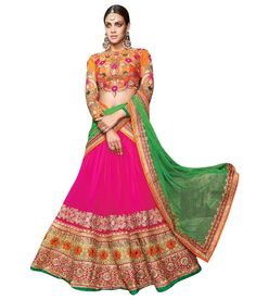 Naksh - EXCLUSIVE DESIGNER WOMENS INDIAN STUNNING TRADITIONAL ETHNIC WEDDING MULTI COLOUR LEHENGA CHOLI