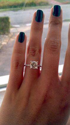 Perfect engagement ring- cushion cut #princesscutengagementrings