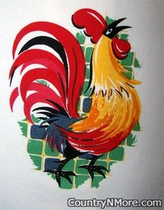Everyone love Retro roosters.  http://www.countrynmore.com/images/large/watermark/VT002_01.jpg