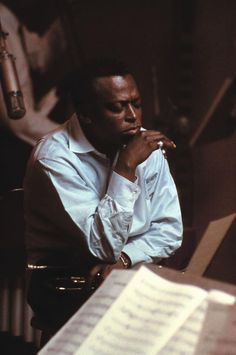 """ohwhataparadise: """" stereoculturesociety: """" CultureSOUL: Miles Davis c. 1960s """"I'm always thinking about creating. My future starts when I wake up in the morning and see the light."""" ― Miles Davis """" Oh What A Paradise It Seems. """""""