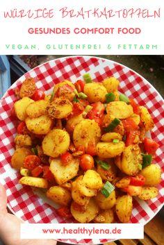 Gesunde Bratkartoffeln - würzig & lecker - vegan & glutenfrei #mittag #comfortfood #healthylena #kartoffeln