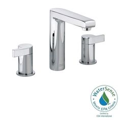 American Standard Studio 8 in. Widespread 2-Handle Mid-Arc Bathroom Faucet in Polished Chrome