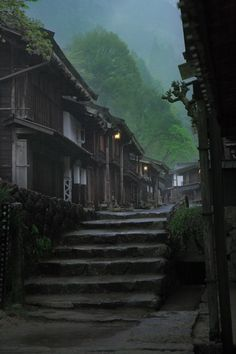 Tsumago-Juku, Nagano, Japan; After World War II, the townspeople started to restore the buildings to the way they were back in the Edo era. Today, walking down the streets of Tsumago you will feel like you slipped back in time to the Edo period. Despite its historical appearance, however, Tsumago is fully inhabited, though with tourist shops as the town's main business.