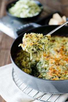 Zucchini and Wild Rice Gratin