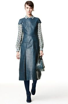 Tory Burch Leather Midi Dress, Blouse, & Pump  available at #Nordstrom.