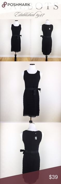🌹💋Talbots little black crepe dress SZ4P Perfect Talbots Little Black Dress with Crepe details, waisted adjustable ribbon. Size 4 petite. This item is. Rand new with tags, no imperfections. Make an offer! Any questions? Ask me! 💖😘 Talbots Dresses