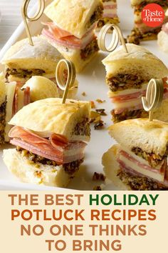 The Best Holiday Potluck Recipes No One Thinks to Bring - Holiday Recipes Best Holiday Appetizers, Yummy Appetizers, Appetizer Recipes, Holiday Recipes, Christmas Recipes, Thanksgiving Recipes, Party Appetizers, Holiday Treats, Potluck Dishes