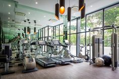 Communal Gym In Super Luxury Singapore Apartment