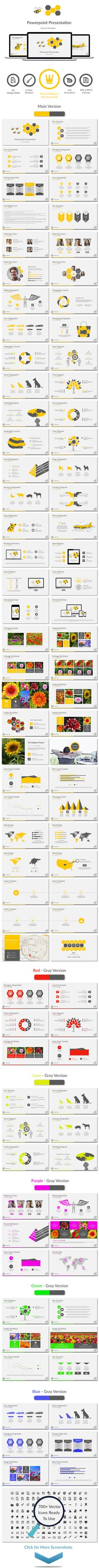 Bee — Powerpoint PPT #1366x768 #social media • Download ➝ https://graphicriver.net/item/bee-powerpoint/19633634?ref=pxcr