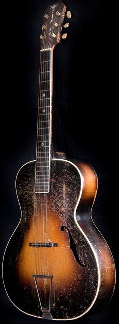 Experienced 1930s Albo Archtop Guitar --- https://www.pinterest.com/lardyfatboy/