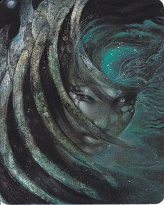 Sedna, by Susan Seddon Boulet. Sedna (Inuktitut: ᓴᓐᓇ, Sanna) is the goddess of the sea and marine animals in Inuit mythology, also known as the Mother of the Sea or Mistress of the Sea. The story of Sedna, which is a creation myth, describes how she came to rule over Adlivun, the Inuit underworld. http://en.wikipedia.org/wiki/Sedna_%28mythology%29