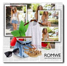 """""""ROMWE 1/IV"""" by amina-haskic ❤ liked on Polyvore featuring Accessorize and romwe"""
