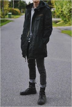Includes SLP, street goth, classic streetwear, /lit/ life, Shia Leboots and woman i… Street Goth, Men Street, Street Wear, Casual Goth, Man Style Casual, Edgy Outfits, Grunge Outfits, Cool Outfits, Male Outfits