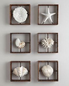Love these Faux Coral Shadowboxes from Horchow. Not paying $200 each for them though. needs to be a way to DIY them #coastalbedroomscoral