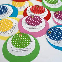 DIY Polka dot party invitations for your next polka dot party!