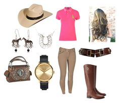 """Equestrian"" by carlavecchio123 on Polyvore featuring Polo Ralph Lauren, Tory Burch, Bailey Western, Silver Forest and Nixon"