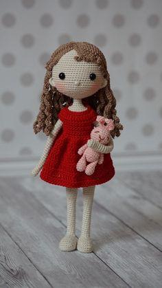 Marina tsydenova s photos Amigurumi Patterns, Amigurumi Doll, Doll Patterns, Knitted Dolls, Crochet Dolls, Crochet Doll Pattern, Crochet Patterns, Love Crochet, Knit Crochet