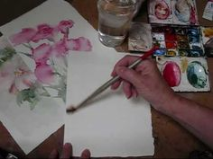Watercolour Demonstration - Carnations